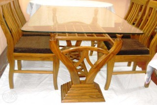 Segun wooden dinning, 6 chair